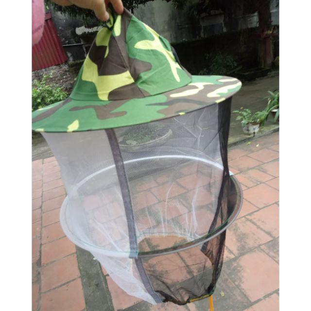 Mũ bảo hộ nuôi ong có lưới màu giàn ri